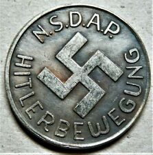 WW2 3rd REICH ERA COLLECTORS GERMAN WINTERHILFE COIN 50 GROSCHEN 1935/1936 NSD