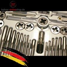 40 tlg. Carbonstahl Gewindeschneiderset (zöllig) in Metallkiste