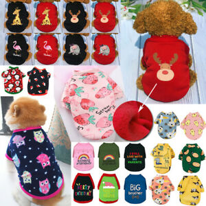 Small Dog Hoodie Coat Winter Warm Pet Clothes for Chihuahua Puppy Pullover Dogs