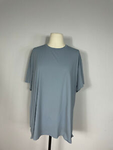 Lululemon Chambray All Yours Train Short Sleeve Athletic Top Women's 14