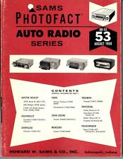 Sams Photofact-Auto Radio Manual/#AR-53/First Edition-First Print/1968