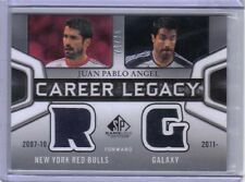Juan Pablo Angel 2011 UD MLS SP Game Used Edition Career Legacy Dual Jersey /75