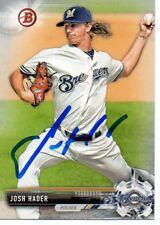 Josh Hader Milwaukee Brewers 2017 Bowman Signed Card