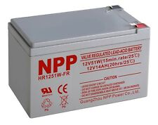 Npp Hr1251W 12V 14Ah / 15Ah Agm Rechargeable Sealed Lead Acid Battery
