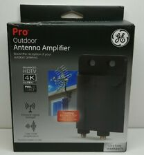 GE Outdoor TV Antenna Amplifier Low Noise Antenna Signal Booster Clears Up Pixel