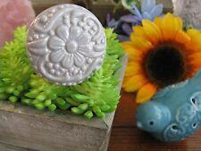 New Cottage Vintage Style Blue Grey Floral Theme Ceramic Drawer Pull Knob