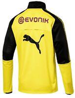 Men's Puma Borussia Dortmund 1/4 Zip Training Top XL X-Large Yellow Soccer Jerse