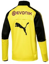 Men's Puma Borussia Dortmund 1/4 Zip Training Top XL X-Large Yellow Soccer Jerse