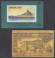 Yugoslavia Sc 1966/2110 Intact Booklets, 1989 Ancient Ships + 1991 Lighthouses