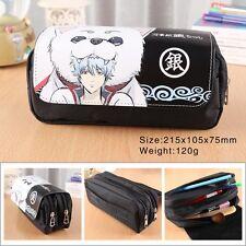 Anime Gintama Gin Tama Pen Pencil Case Zipper Stationery Make Up Bag box cosplay