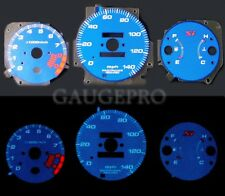 99-00 CIVIC Si BLUE CARBON FIBER GLOW GAUGES in MPH with 10K RPM TACH