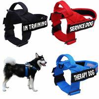 Adj Service Dog Harness No Pull Reflective Pet Puppy Training Collar Strap Vest