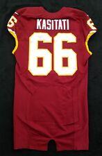 #66 Nila kasitati of Washington Redskins Nike Game Issued Player Worn Jersey