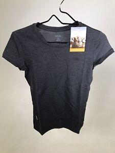 ICEBREAKER 100% Merino Wool Women's Tech 200 T-shirt - Dark Grey - XS - NEW!