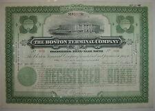 Boston Terminal Company Bond Stock Certificate Railroad