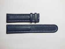 Replacement for Breitling Blue Genuine Calfskin Leather Watch Band Strap 22mm