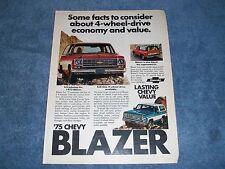 1975 Chevy Blazer 4-Wheel Drive Vintage Ad