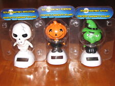 NEW Halloween SKELETON PUMPKIN WITCH Dancing Solar Flip Flap Toys Set of 3