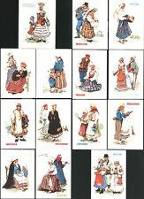 ESTONIAN FOLK COSTUMES, Asta Vender, complete 13 postcard set, 1960