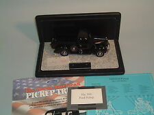 1940 FORD PICKUP TRUCK BLACK FRANKLIN MINT 1:24 WITH DISPLAY CASE