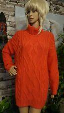 River Island Orange Oversized Cable Knit Roll Neck Jumper UK 12