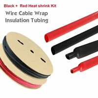 Black Red Assorted Heat Shrink Tubing Kit  3:1 Insulate Wire Against Heat Water