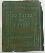 Shaw - On Going to Church -  Book Little Leather Library Redcroft