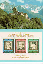 Vintage Postcard Prince Hans-Adam II, Liechtenstein  Father & Son 3 Generations