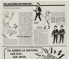 Coupure de presse Tintin Hergé  press Clipping