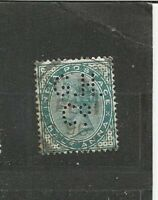 Perfins Perfin Queen Victoria India Postage Asien Old Stamps Briefmarken Sellos