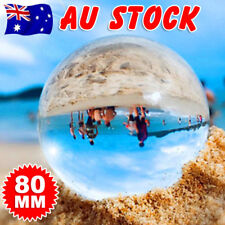 Clear Glass Crystal Ball Healing Sphere Photography Props Lensball Decor 80MM