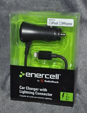 enercell CAR CHARGER with LIGHTNING CONNECTOR Black 2730753 for iPhone iPod iPad