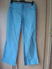 Ecko Red ladies trousers s12 light blue 100% cotton lace tie and leg detail
