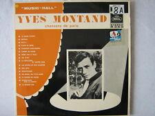 YVES MONTAND 33 TOURS HOLLANDE CHANSONS DE PARIS