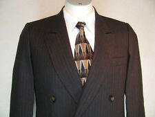 VINTAGE EUROPA 2PC. DARK GRAY SUIT. JACKET SIZE 40R  (PANTS 32X32) (AWESOME FIND