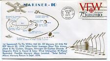 1974 Mariner 10 Spacecraft Mercury Magnetic Field Solar Wind Cape Canaveral SAT