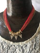 Multi Chain 16� Necklace Retail $18 New Material Girl Spike Pendant And