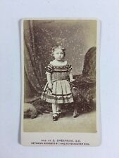 Victorian Carte De Visite CDV: Child: JC Turner: London