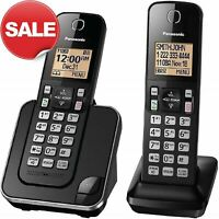 PANASONIC Expandable Cordless Phone System Backlit Display Call Block 2 Handsets