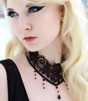 Victorian gothic lace choker necklace goth Black NOCTURNE steampunk wedding