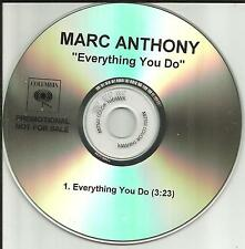 MARC ANTHONY Everything you Do RARE TST PRESS PROMO Radio DJ CD single 2002 USA