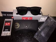 Ray Ban Original Wayfarer RB 2140 Black Frame, 54mm 901 G-15 Lens, Black Case
