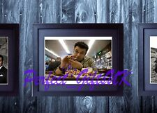 ADAM RICHMAN MAN V FOOD SIGNED FRAMED & MOUNTED 10x8 REPRO PHOTO PRINT