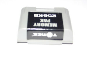 Controller memory pak pack card 256kb Nintendo 64 !FREE US S&H!