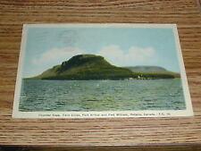 Thunder Cape,Twin Cities Port Arthur & Fort William Ontario Canada Postcard 1946