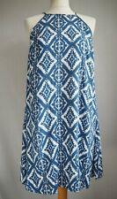 Dress 14 Blue White