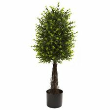 Nearly Natural 5413 Ixora Topiary UV Resistant Tree- 35-Inch- Green