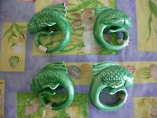 Fish Napkin Rings Set Of 4 New Fish Napkin Holders Green New