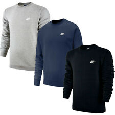 Nike Mens Crew Top Sweatshirt Club Tracksuit Training Jumper Top Fleece