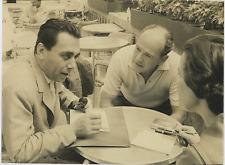 Enrico Roda e Anthony Mann  Vintage silver print Tirage argentique  22x30